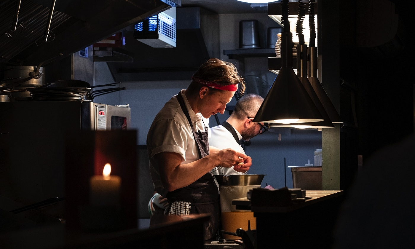 The kitchen at Goldie fish and ale · seafood restaurant in Cork city