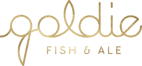 logo for Goldie fish & ale restaurant